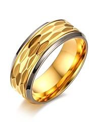 preiswerte -Herrn Gold Ring - Kreisförmig Retro / Elegant / Simple Style Gold Ring Für Hochzeit / Party / Abend / Danke