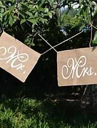 baratos -Material Presente Decoração cerimônia - Casamento Festa Ocasião Especial Aniversário Festa / Noite Noivado Férias Tema Clássico