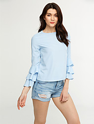 cheap -Women's Casual Shirt - Solid Colored