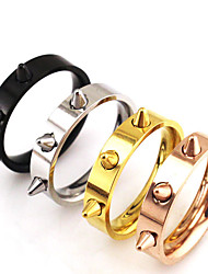cheap -Basic Punk Hip-Hop Multi-ways Wear Classic Stainless Steel Couple Rings Bicone Shape Jewelry For Wedding Graduation Gift Daily Valentine