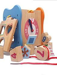 Недорогие -Игрушечные счеты Игры с последовательностью Деревянные часы Математические игрушки Обучающая игрушка Игрушки Квадратный Экологичные
