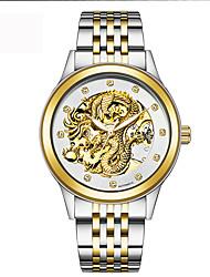 preiswerte -Herrn Automatikaufzug Simulierter Diamant Uhr Mechanische Uhr Armbanduhr Militäruhr Sportuhr Schweizer Kalender Wasserdicht Nachts