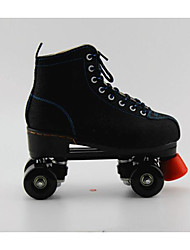 Adults' Roller Skates Lighting Flashing Roller Skates 4 wheels Well-ventilated Black
