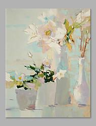 Недорогие -Hang-роспись маслом Ручная роспись - Цветочные мотивы / ботанический Художественный холст