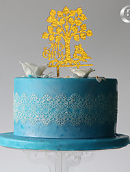 Decoración de Pasteles Monograma Boda Ocasión especial Cumpleaños Con Bolsa PVC