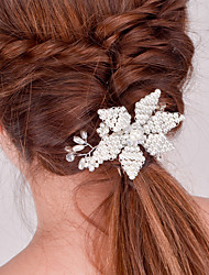 cheap -Europe and the United States foreign trade fashion hair accessories bride Handmade dinner ornaments Joker pearl crystal hairpin headdress A0174