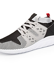 Men's Athletic Shoes Comfort Light Soles Summer Fall Net TPU Tulle PVC Track & Field Shoes Athletic Outdoor Lace-up Flat Heel Black Gray