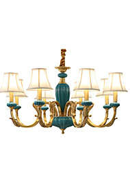 cheap -All Copper Chandelier Jade DecorativeLiving Room Chandelier KP