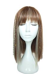 economico -Donna Parrucche sintetiche Lungo Dritto Kinky liscia Blonde Parrucca di treccine Treccine afro Parrucca naturale Parrucca per