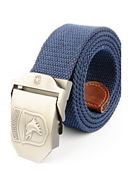 cheap -Men's Alloy Waist Belt,Black Army Green Khaki Royal Blue Office/Business Solid Pure Color