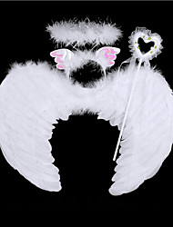 Feather Angel Fairy Wings Wand Halo Set Halloween Party Fancy Dress Costume