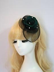 resina algodão fascinators flores chapéus chapelaria estilo feminino clássico