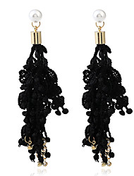 cheap -Women's Drop Earrings Imitation Pearl Vintage Personalized Lace Alloy Jewelry For Party Event/Party
