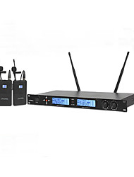 cheap -UHF Professional Karaoke Wireless Microphone System With Lapelr Collar Clip Mic