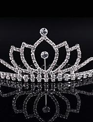 Kristall Strass Legierung Tiaras Kopfstück klassischen weiblichen Stil