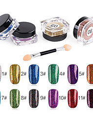 Pinpai Foreign Trade Explosions Nail Art Glitter Laser Magical Colorful Powder Glitter Powder 12 Color Single Individual Lights Chameleon 2g Pack