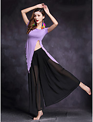 Belly Dance Outfits Women's Performance Modal 2 Pieces Short Sleeve Natural Top / Skirts