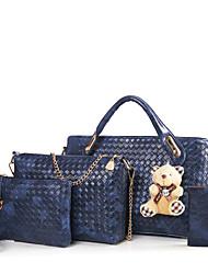 economico -Donna Sacchetti PU (Poliuretano) sacchetto regola Cerniera per Casual Formale Per tutte le stagioni Blu Bianco Nero Rosso Marrone