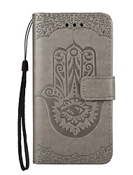 Case For Samsung Galaxy A5(2017) A3(2017) Wallet Card Holder with Stand Flip Embossed Pattern Magnetic Full Body Flower Hard PU Leather
