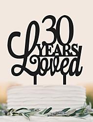 baratos -Decorações de Bolo Aniversário Casamento Alta qualidade Plástico Casamento Aniversário com 1pcs Bolsa PVS