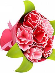 abordables -Puzzles 3D Maquette en Papier Loisirs Créatifs en Papier Kit de Maquette Carré Roses 3D Simulation A Faire Soi-Même Papier cartonné