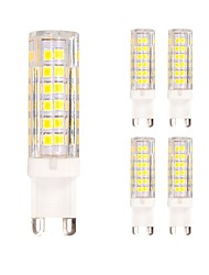 cheap -5pcs 4.5W 400 lm G9 LED Bi-pin Lights T 75 leds SMD 2835 Warm White Cold White AC 220-240V
