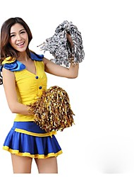 cheap -Cheerleader Costumes Outfits Women's Performance Polyester Trims 2 Pieces Sleeveless High Skirts Tops