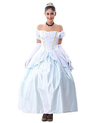 cheap -Princess / Animal / Fairytale Cosplay Costume / Party Costume Women's Christmas / Halloween / Carnival Festival / Holiday Halloween Costumes Light Blue Vintage