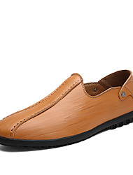 cheap -Men's Cowhide Summer / Fall Comfort Loafers & Slip-Ons Walking Shoes Black / Dark Brown / Light Brown