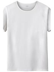 Tee-shirt Homme,Couleur Pleine Anniversaire Quotidien Décontracté Retour Décontracté / Quotidien simple Eté Manches Courtes Col Arrondi