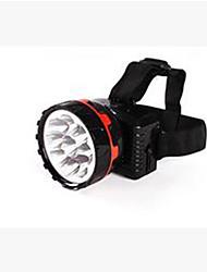 Torce frontali LED Lumens Modo Stile Mini per Campeggio/Escursionismo/Speleologia Pesca Rosso nero