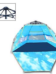 Недорогие -3-4 человека Тент для пляжа Световой тент Один экземляр Палатка Однокомнатная Всплывающая палатка Отдых и туризм Ультрафиолетовая