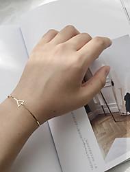 baratos -Mulheres Bracelete Moda Liga Forma Geométrica Triangular Jóias Para Casual