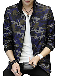 BIENSI Men's Other Daily Casual Outdoor clothing Plus Size Casual/Daily Club StreetTraditional/Vintage Formal Simple Jackets Casual Casual/Daily