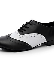 """cheap -Men's Latin Real Leather Flat Indoor Black Under 1"""" Customizable"""