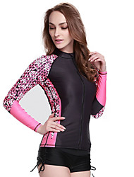 cheap -SBART Women's Diving Rash Guard Chinlon / Elastane Long Sleeve Swimwear Beach Wear Top Swimming / Diving / Surfing / High Elasticity