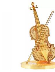 Недорогие -3D пазлы Пазлы Металлические пазлы Игрушки Прочее Скрипка 3D Своими руками Металл Не указано Куски