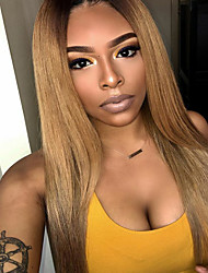 Ombre T1B/30 Lace Front Human Hair Wigs Silky Straight with Baby Hair 130% Density Brazilian Virgin Hair Lace Wig for Woman