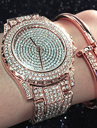 Women's Fashion Watch Bracelet Watch Unique Creative Watch Casual Watch Simulated Diamond Watch Pave Watch Chinese Quartz Water Resistant