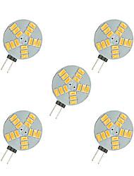 cheap -5pcs 2.5W 220lm G4 LED Bi-pin Lights 15 LED Beads SMD 5630 Warm White White 12V