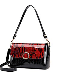 Women Bags PU Shoulder Bag for Wedding Event/Party Casual Formal Office & Career All Seasons Gold Black Red Gray Purple