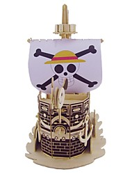 Недорогие -3D пазлы Пазлы Деревянные игрушки Корабль Своими руками деревянный Натуральное дерево Детские Универсальные Подарок