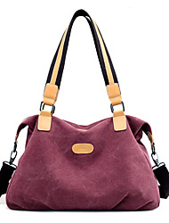 cheap -Women's Bags Canvas Shoulder Bag for Outdoor Gray / Purple / Coffee