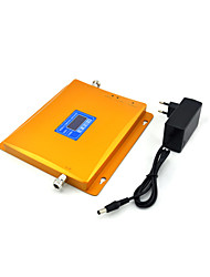 CDMA 800mhz 850mhz DCS 1800mhz Mobile Phone Signal Booster Signal Repeater Amplifier with Power Supply LCD Display / Golden