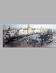 IARTS® Modern Abstract Oil Painting Vintage Paris City Panorama with Stretched Frame Handmade Oil Painting For Home Decoration Ready To Hang