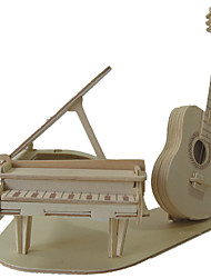 Недорогие -3D пазлы Пазлы Наборы для моделирования Пианино Скрипка Музыкальные инструменты Своими руками моделирование деревянный Классика Универсальные Игрушки Подарок