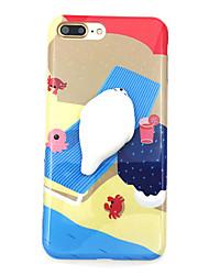 Недорогие -Назначение Чехлы панели С узором Своими руками болотистый Задняя крышка Кейс для Мультипликация Мягкий Термопластик для AppleiPhone 7