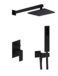 cheap -Contemporary Modern Style Widespread Rain Shower Handshower Included Wall Mount Ceramic Valve Single Handle Three Holes Painting , Shower
