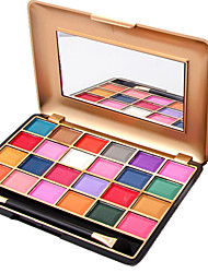 24 Color Eyeshadow Palette Dry Eyeshadow palette Pressed powder Normal Daily Makeup Brush