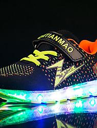 Da ragazzo scarpe da ginnastica Scarpe luminose Tulle Tessuto Primavera Estate Autunno Inverno Sportivo Casual Corsa Scarpe luminose